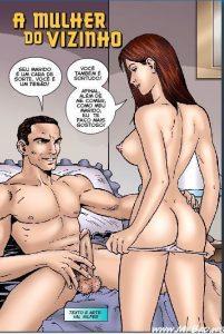 Hq porno comics: Sexo em quadrinhos comendo Sua Vizinha